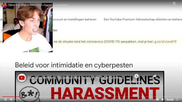 De video van de Vlaamse Nathan Vandergunst (21) werd door YouTube offline gehaald.