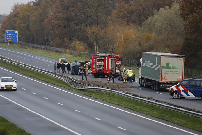 Ongeluk op de A73 bij Boxmeer