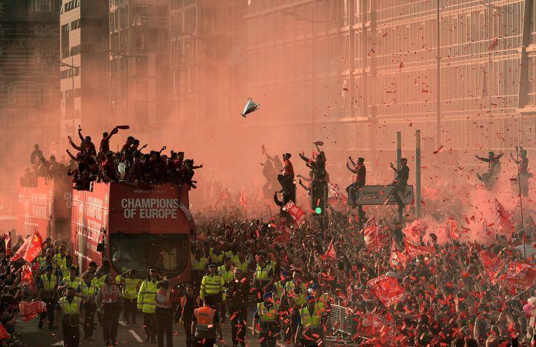 Een volksfeest na de Champions League-zege van vorig jaar.