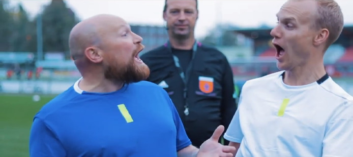De Lingo's uit Eibergen namen een nummer en videoclip op over de VAR.