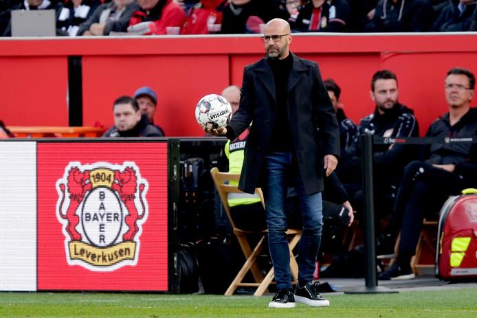 Peter Bosz , trainer van Bayer Leverkusen.