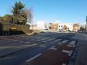 De fietsoversteek in de Magdalenastraat