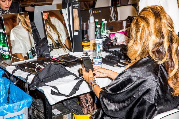 Danie Bles op de Amsterdam Fashionweek. Beeld Marie Wanders