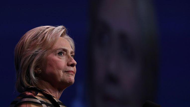 Hillary Clinton tijdens een toespraak voor het Congressional Hispanic Caucus Institute, 15 september Beeld afp
