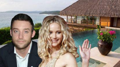 BINNENKIJKEN. In dit super-de-luxe resort geniet Jennifer Lawrence van haar huwelijksreis