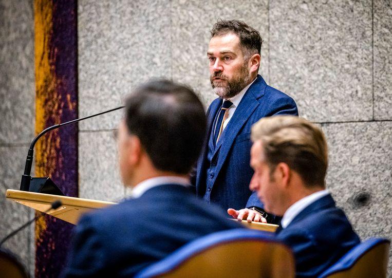 VVD-fractievoorzitter Klaas Dijkhoff tijdens de Algemene Politieke Beschouwingen in de Tweede Kamer. Beeld Hollandse Hoogte /  ANP