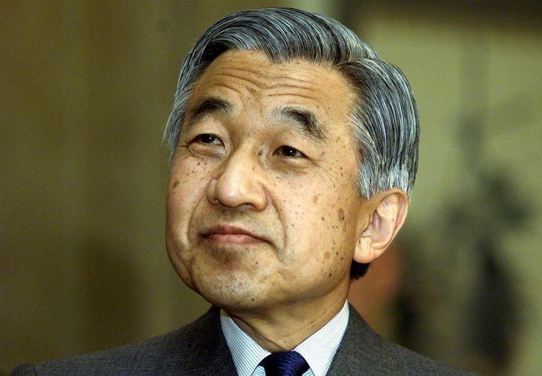 De Japanse keizer Akihito tijdens zijn staatsbezoek aan Nederland in 2000. Beeld anp