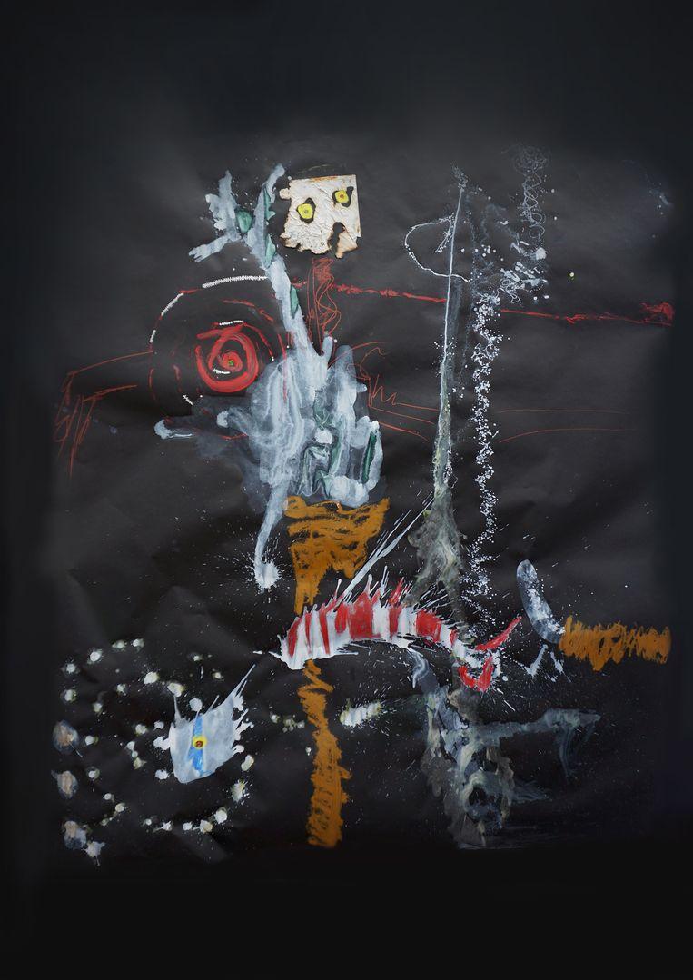 Figuren en fantasiedieren van Oussou.  Beeld Capital C / Amsterdam Art