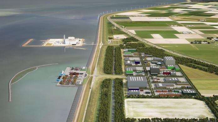 Een impressie van de haven Flevokust bij Lelystad.