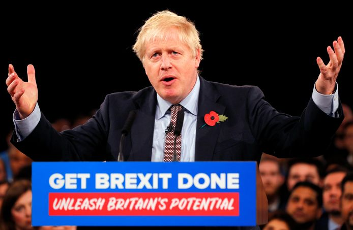 De Britse premier Boris Johnson.