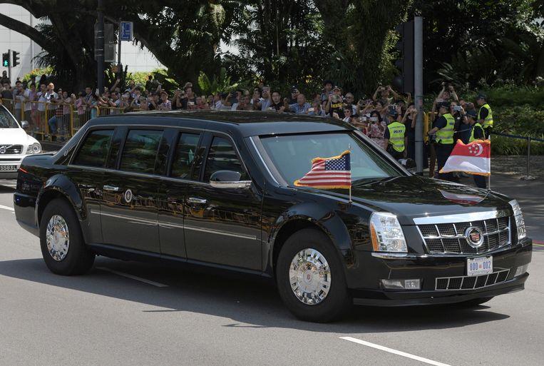 The Beast, de presidentiële limousine van de Amerikaanse leider.