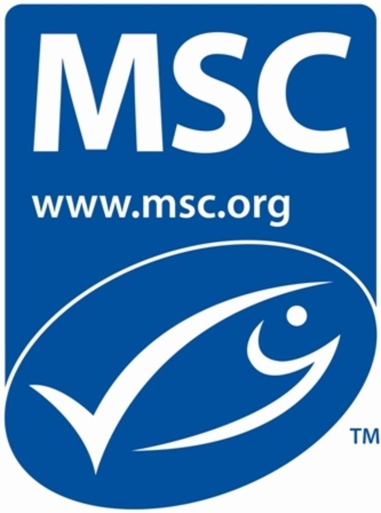 Het logo voor duurzame wilde vis. Beeld