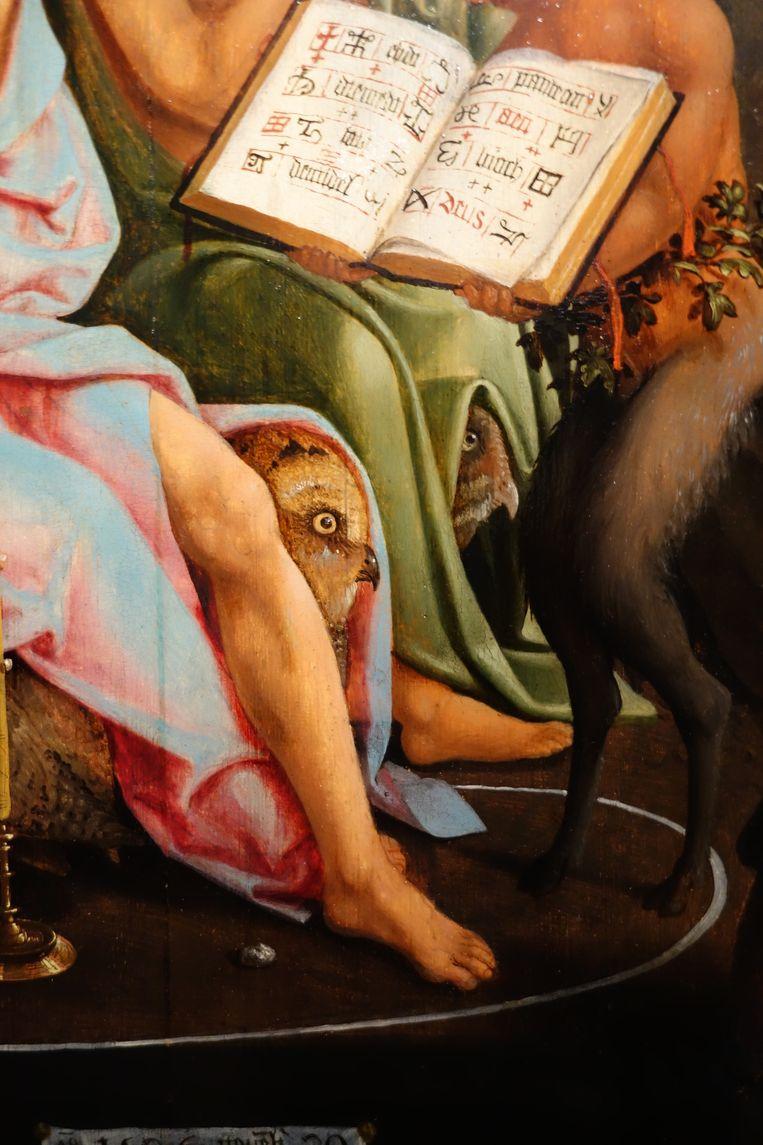 Detail uit Jacob van Oostsanen, Detail uit: Saul bij de heks van Endor, 1526. Beeld Rijksmuseum Amsterdam
