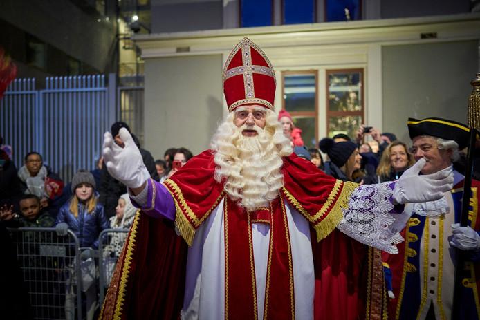 Sinterklaas tijdens zijn intocht in Den Haag.