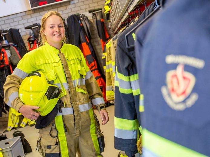 Hester Hoogland is brandweervrijwilliger.