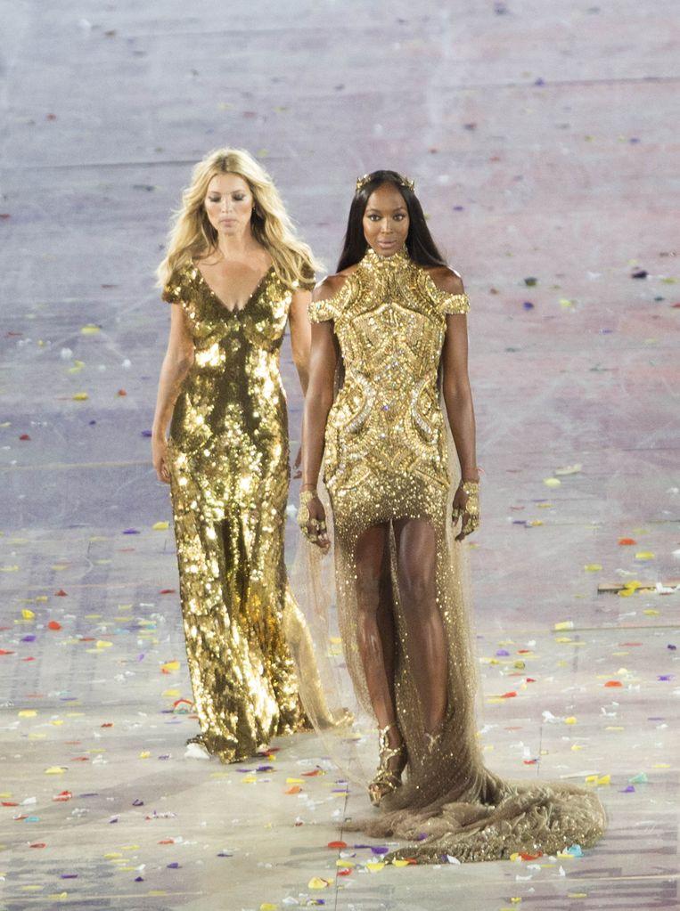 Samen met Kate Moss voor de Olympische Spelen in 2012.