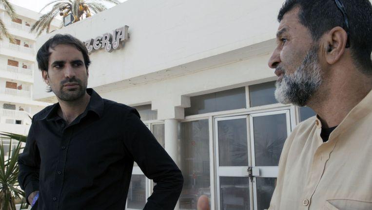 Alex Pitstra en zijn Tunesische vader Beeld -