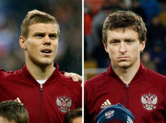 Alexander Kokorin (links) en Pavel Mamajev.
