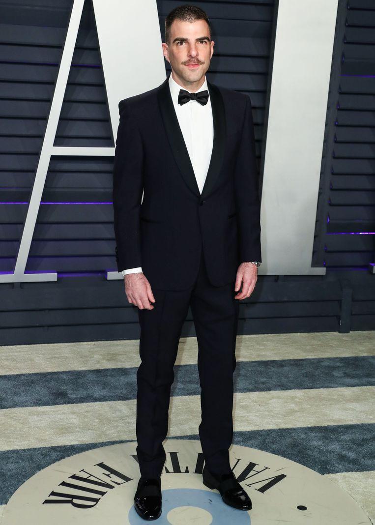 Zachary Quinto daagde in zijn eentje op tijdens een afterparty van de Oscars.