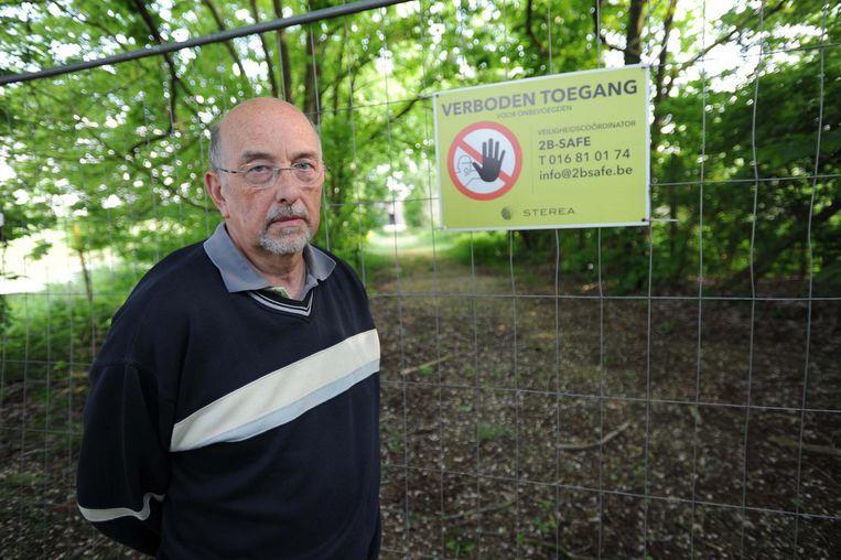Luc Caluwaerts, voorzitter Sterrebeek 2000 vzw voor de gesloten voetweg.