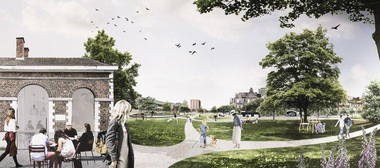 In de plannen wordt onder meer ook werk gemaakt van meer groen rond de stationsomgeving.