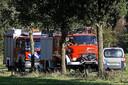 De brandweer Eibergen en de Löschzug Ammeloe van de Feuerwehr Vreden rukken gezamenlijk uit naar Rekken.