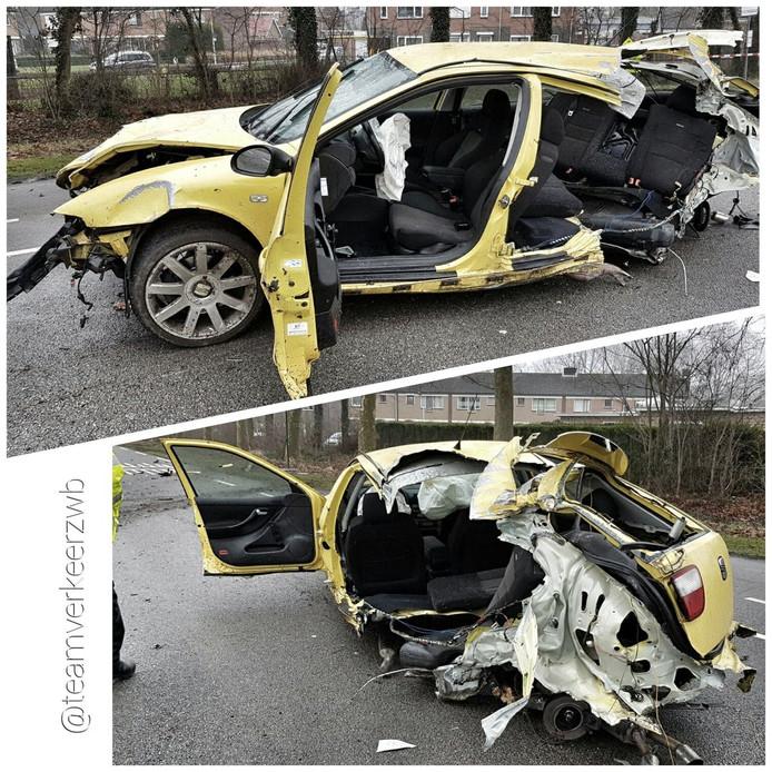 De bestuurder hield slechts lichte verwondingen aan het ongeval over