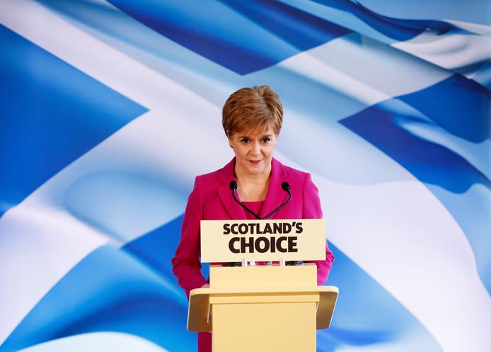 De Schotse premier Nicola Sturgeon eistte meteen een referendum over onafhankelijkheid.