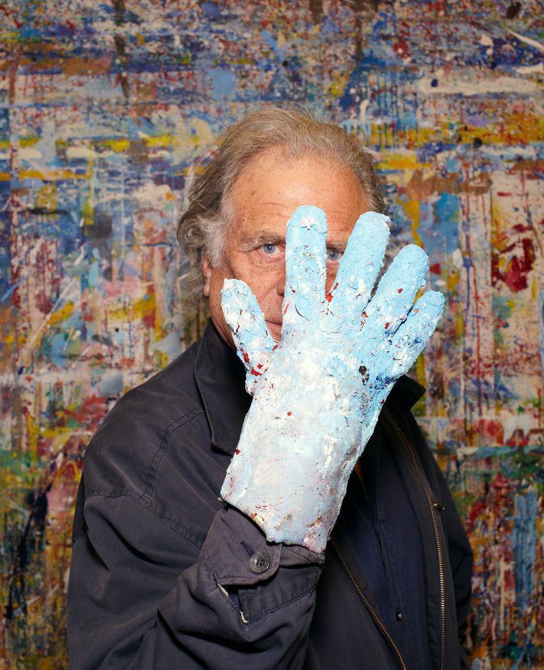 schrijver en beeldend kunstenaar:  Jan Cremer  gefotografeerd op vrijdag 22 februari 2019 in Amsterdam, voor bij een interview van Arjan Peters. Beeld Daniel Cohen