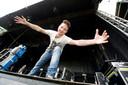 Fabian van der Linden on stage op het McBlossom Podium,