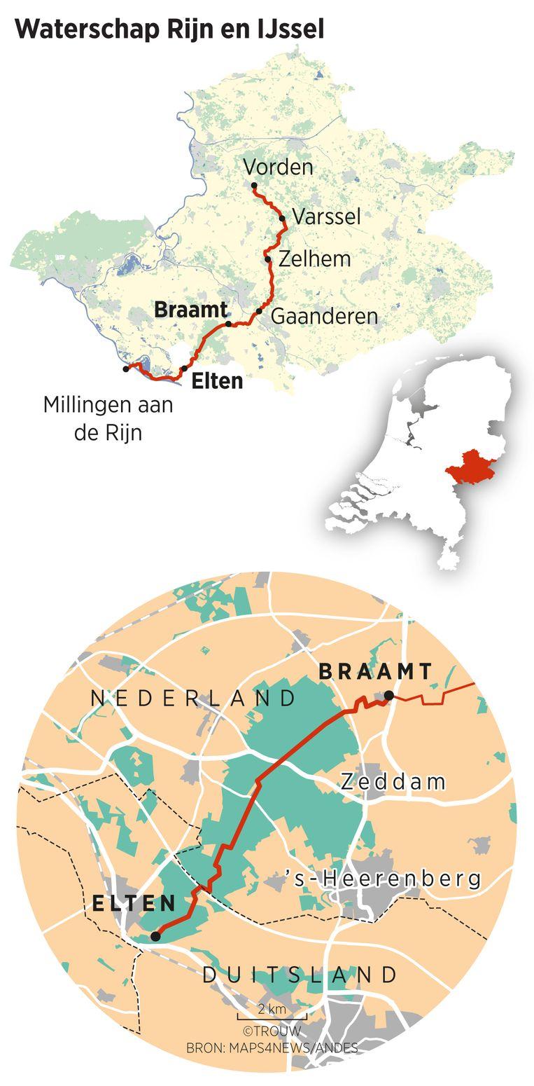 Trouw wandelt een week met experts langs het Pieterpad door het droogste stukje Nederland, van Vorden naar Millingen aan de Rijn. Beeld Sander Soewargana