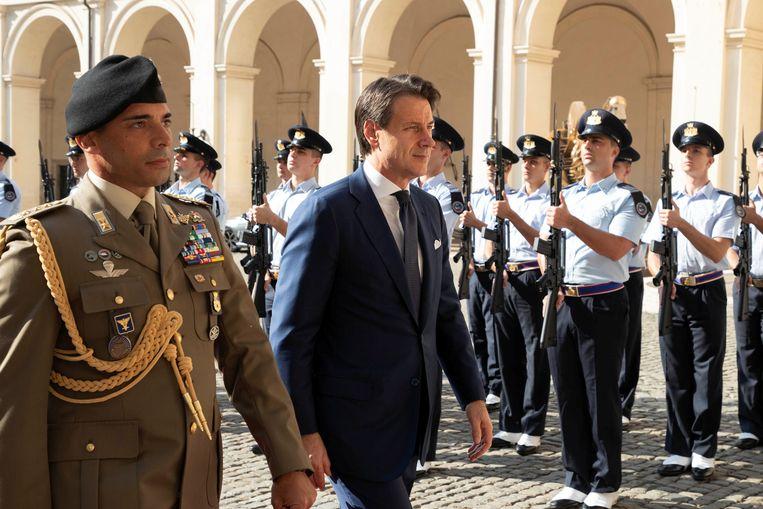 Giuseppe Conte kreeg vanmorgen van de Italiaanse president de opdracht een nieuwe regering te vormen.