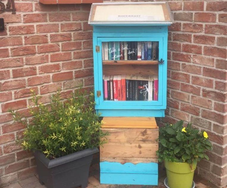 Het boekenruilkastje van Dries en Jinka