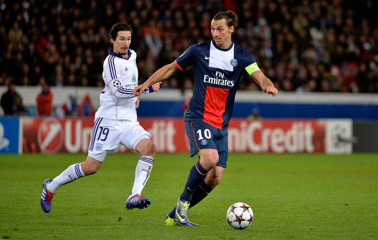 Kljestan in het shirt van Anderlecht.