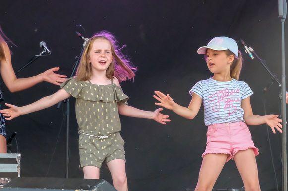 Ook de kinderen konden zich vorig jaar volop uitleven op het podium.