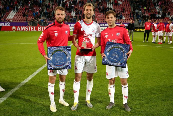 Willem Janssen (midden).