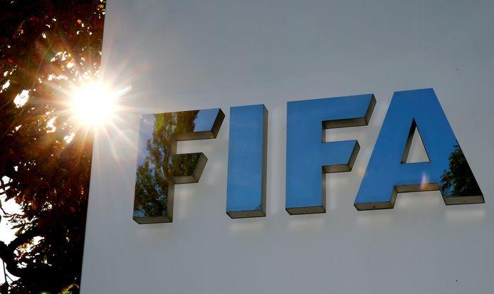Het logo van wereldvoetbalbond FIFA ter illustratie.