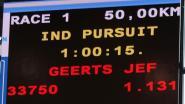 """Jef Geerts (80) breekt Belgisch werelduurrecord op de piste: """"Ik sta voor altijd in de tabellen en dat maakt me fier"""""""
