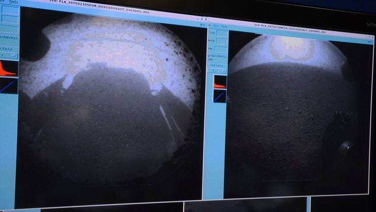 Curiosity stuurde direct na de succesvolle landing de eerste beelden van Mars. Beeld epa