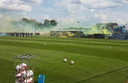 Sfeeractie NAC-supporters tijdens laatste training voor seizoen 2019/2020.