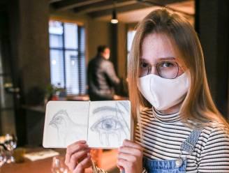 'Een traan voor de horeca': Willeke (12) stopt gevoelens over verplichte sluiting restaurant van haar ouders in pakkende tekening