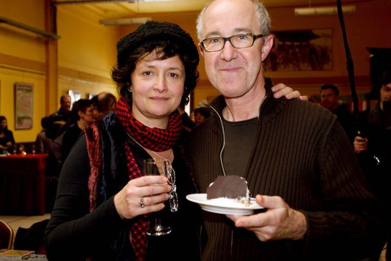 Sigrid Spruyt met haar partner Raymond Van het Groenewoud