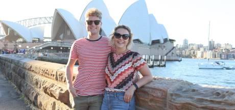 Brabantse Roel en Marly fietsen met stofmasker rond in Sydney: 'Je krijgt er een schorre keel en branderige ogen van'