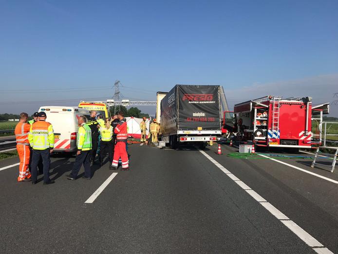 Chaos op de A67 woensdagochtend.