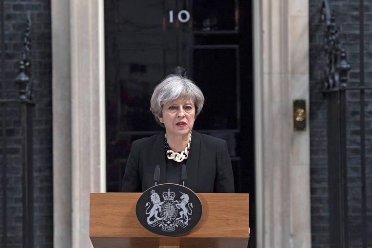 Theresa May: verkiezingen gaan door. Beeld epa