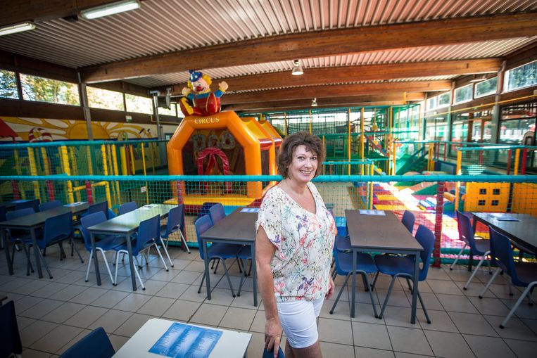 Linda stevens in Play Beach, een van de plekken die voor opvang zal dienen bij eventuele evacuatie.
