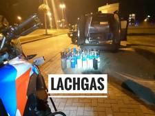 Politie houdt man aan met 'flinke hoeveelheid lachgas' in zijn auto