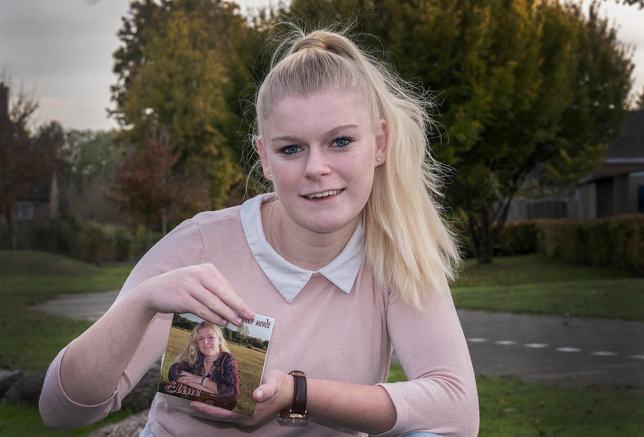 Zangeres Eline Visser uit Groesbeek met haar nieuwe CD.