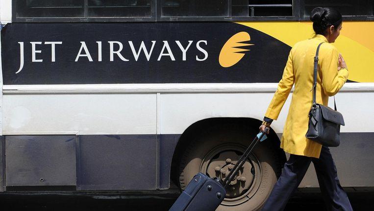 Een stewardess van Jet Airways Beeld anp