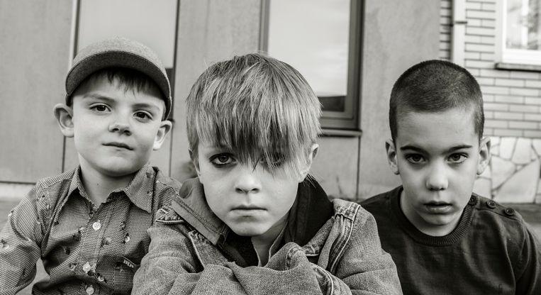 Maxime Olszewski (6), Leander Metsu (6) en Guillian Deprez (8) als Nirvana